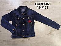 Куртка джинсовая на девочек 134 /164 см акция