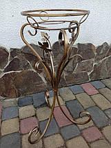 Подставка кованая для цветов  на 1 вазон Тюльпан., фото 3