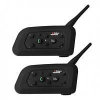 Bluetooth мотогарнитура WL Vnetphone V2 с креплениями для шлема 8х4,5х2 см Черная (W/5026)