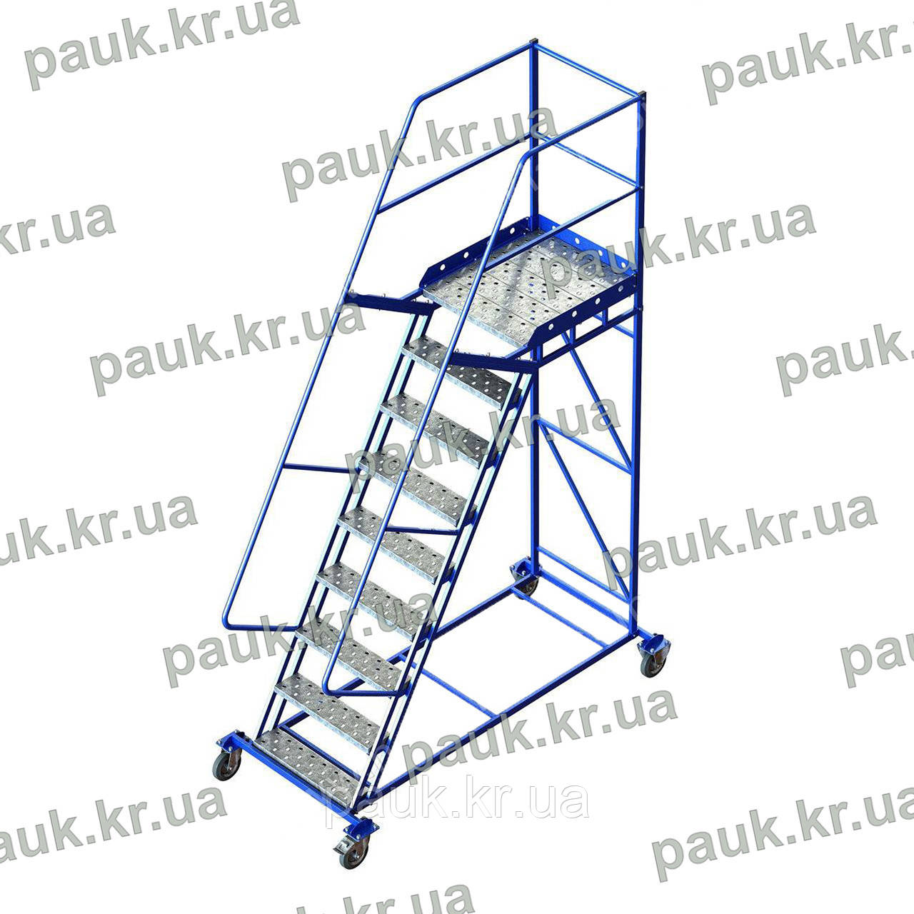 Платформова драбина Н2250 мм, сталева пересувна