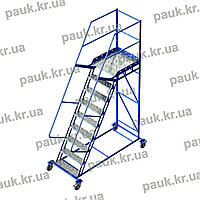Сталева платформова драбина. Висота 2250 мм, фото 1