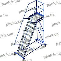 Драбина для складських стелажів. Висота 2500 мм, фото 1