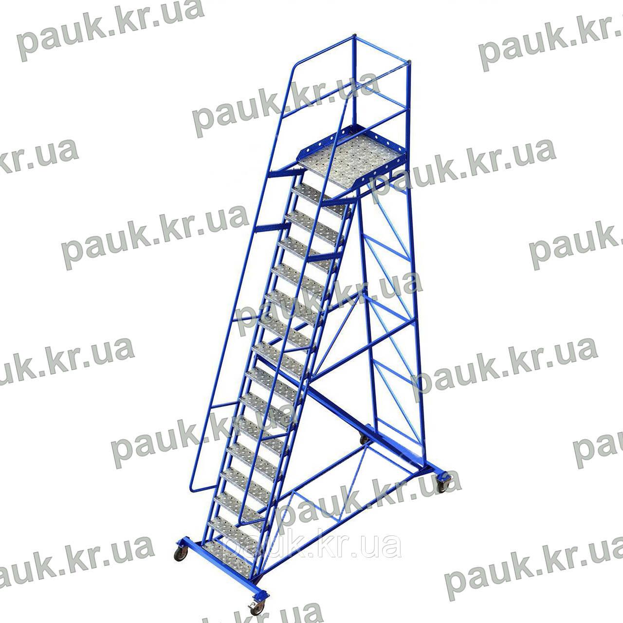 Платформова драбина складська Н4000 мм
