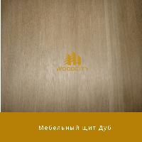 Мебельный щит цельноламельный Дуб 30 мм сорт А-В