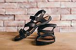 Чоловічі сандалі шкіряні літні чорні-коричневі StepWey 1072, фото 2