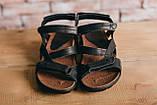 Чоловічі сандалі шкіряні літні чорні-коричневі StepWey 1072, фото 3