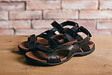 Чоловічі сандалі шкіряні літні чорні-коричневі StepWey 1072, фото 5