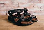Чоловічі сандалі шкіряні літні чорні-коричневі StepWey 1072, фото 6