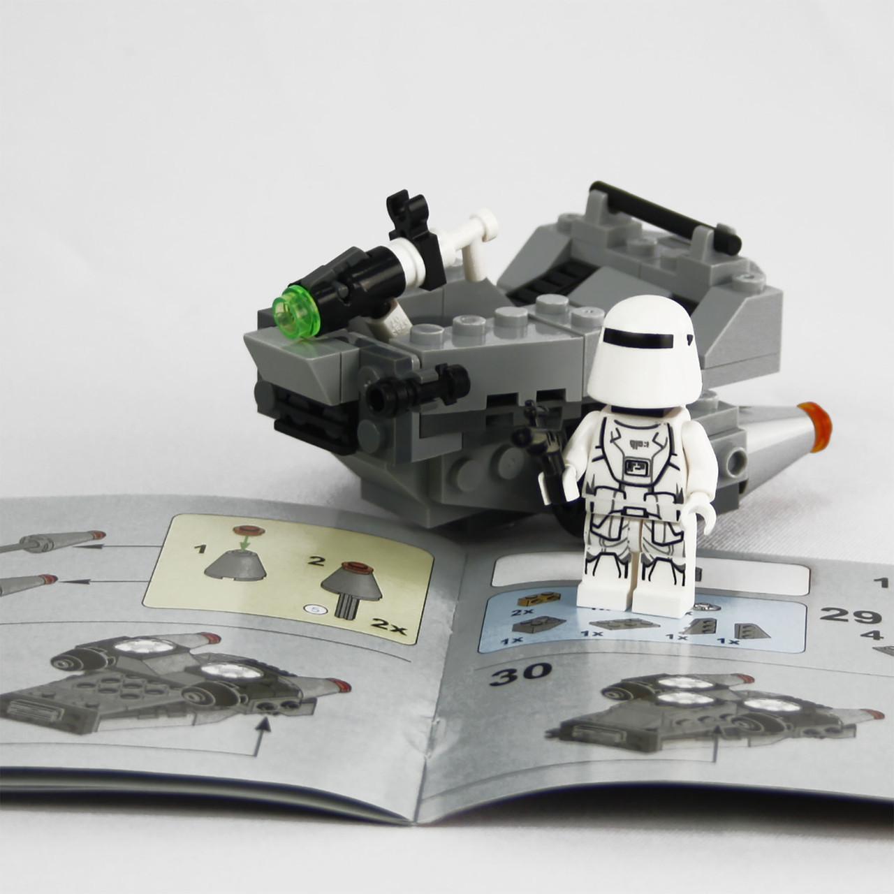 Детский конструктор Supretto Lepin Star Wars, аналог LEGO 100 предметов снежный спидер