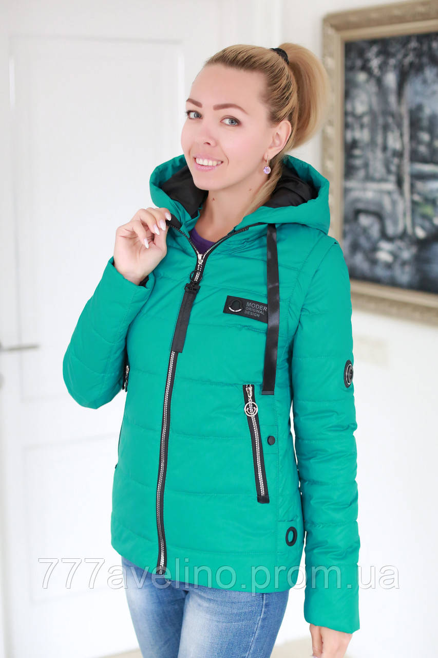 Куртка жіноча демісезонна трансформер в жилет розмір з 42 по 52