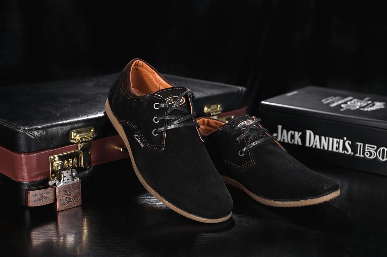 Подростковые туфли замшевые весна/осень черные Yuves Clas