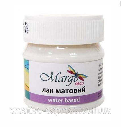 Лак матовий, на водній основі, Matte, 50 мл, Margo