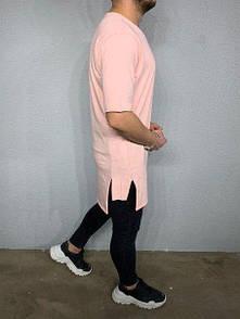 Модная мужская футболка удлиненная