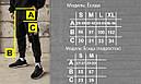 Карго штаны с лямками и принтом черные от бренда ТУР модель Ёсида (Yoshida) Подростковые Рост 140см - 188см., фото 4