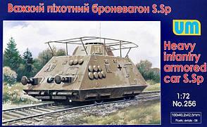 Тяжелый пехотный броневагон S. Sp. Сборная модель.  1/72 UM 256