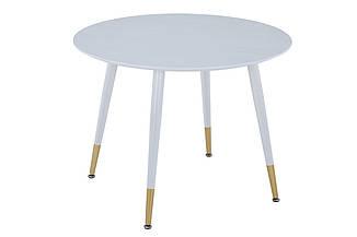 Круглый кофейный стол TM-99 белый от Vetro Mebel, D100 см