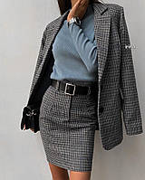 Женский костюм на каждый день (юбка + пиджак) 42 - 46 рр трикотаж шерсть