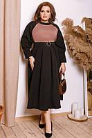 Женское платье из крем - костюмки батал 48 - 58 рр