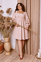 Женское платье из вельвета батал 48 - 58 рр