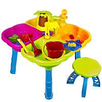 Столик детский песочный Kinder Way с набором игрушек и стульчиком 01-121