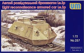 Легкий разведывательный броневагон Le. Sp. 1/72 UM 257