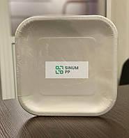 Одноразовые бумажные тарелки, квадратные,  233 мм, 10 шт/уп.