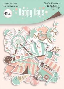 Набір висічок для скрапбукінгу 49шт від Scrapmir Happy Days