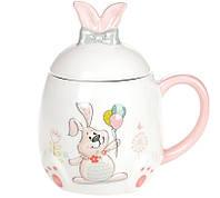 Кружка керамическая 450мл с объемным рисунком Веселый кролик DM138-E