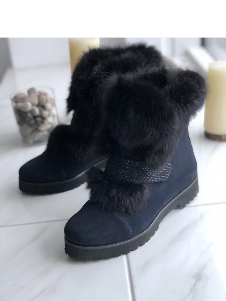 Ботинки замшевые с натуральным мехом 39размер
