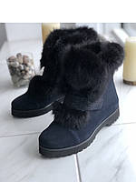 Ботинки замшевые с натуральным мехом 39размер, фото 1