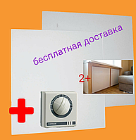 2 Металлокерамических обогревателя  UDEN-500K (Универсал)+ терморегулятор Cewal
