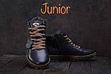 Подростковые ботинки кожаные зимние синие Milord Olimp, фото 2