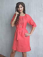 Льняное женское платье (в размере S - 2XL), фото 1