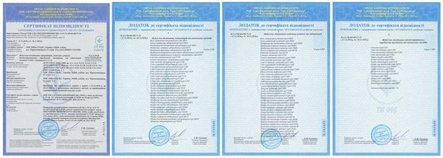 Сертификат соответствия, Мебель для персонала