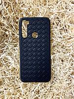 "Чехол ""Кожаное Плетение"" для Xiaomi Redmi Note 8, Black"
