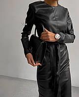 Женское модное платье с 42 по 46 рр из эко кожи