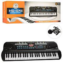 Дитячий синтезатор (орган, фортепіано) на 54 клавіш, МР3, мікрофон, USB зарядне, HS5411-21