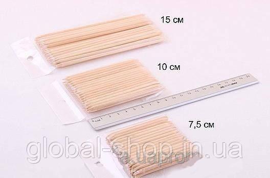Апельсиновые палочки для маникюра 100 штук, 7 см