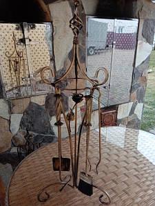 Набор для камина кованый №6 (роза)