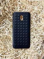 """Чехол """"Кожаное Плетение"""" для Xiaomi Redmi 8A, Black"""