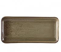 Блюдо прямоугольное 27х12,5 см, Terra Porcelain Grey