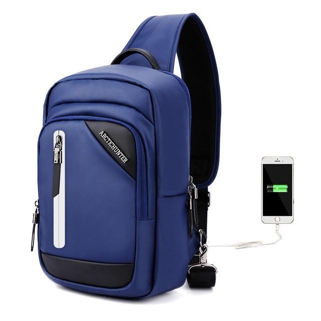 Удобная сумка-мессенджер Arctic Hunter XB130028 для бизнеса и путешествий, влагозащищённая, 4л