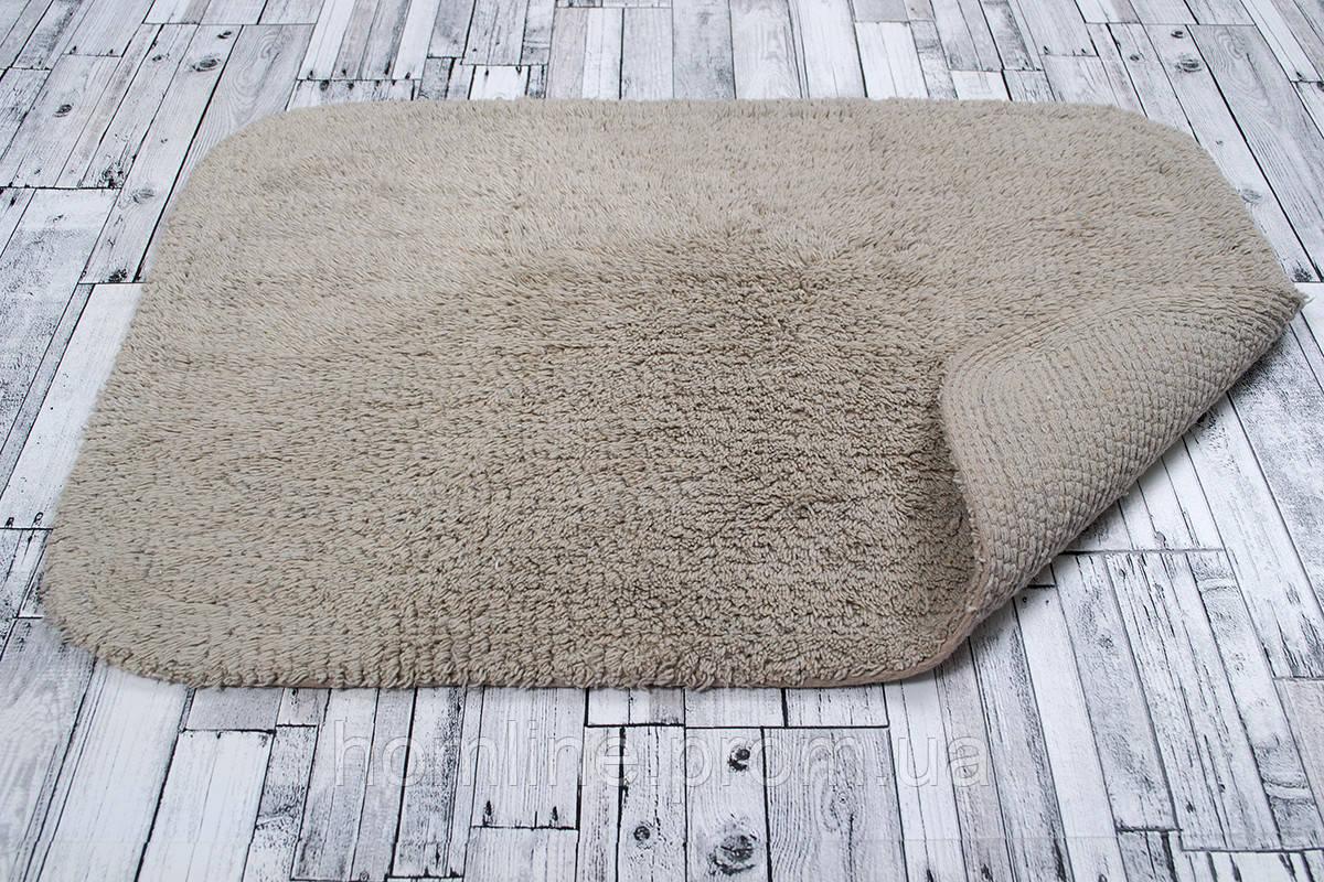 Махровий килимок Irya Basic biege бежевий 50*80