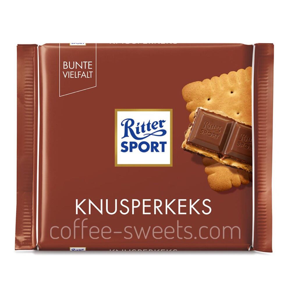 Шоколад молочный «Ritter Sport» BUTTER BISCUIT (Knusperkeks) 100 г.
