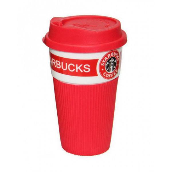 Термокружка для холодных и горячих напитков Starbucks 02163 керамика 350 мл Red