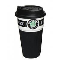 Термокружка для холодных и горячих напитков Starbucks 02189 керамика 350 мл Black