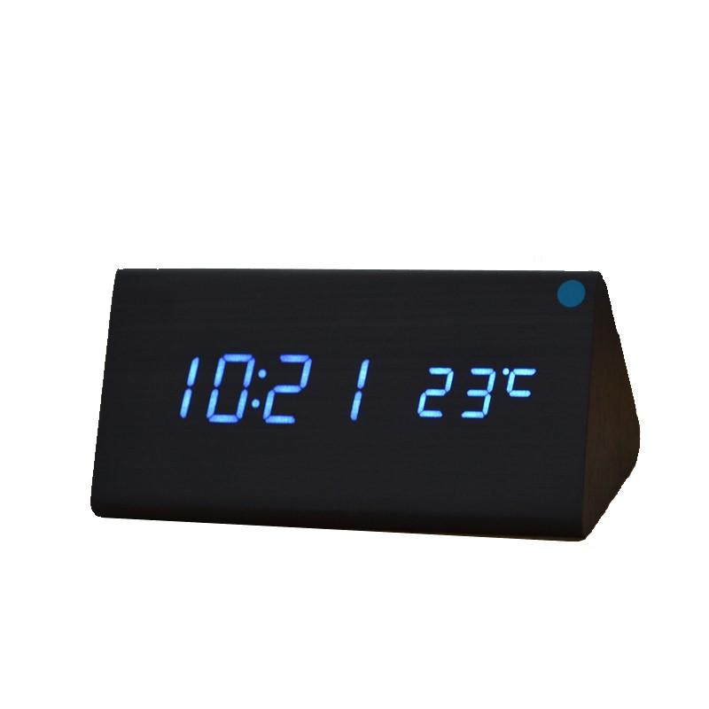 Настольные часы VST 861-6 под дерево Black