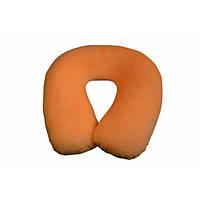 Дорожная подушка-подголовник под шею для путешествий Qibest Memory Foam Travel Pillow Оранжевый (1000738), фото 1