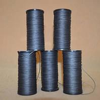 Нитки мокасиновые обувные цвет темно-серый