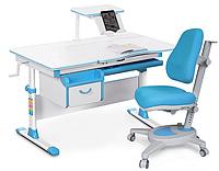 Комплект Evo-kids Evo 40 BL Blue (арт. Evo-40 BL + кресло Y-110 KBL) /(стол+ящик+полка+кресло)/ белая столешни